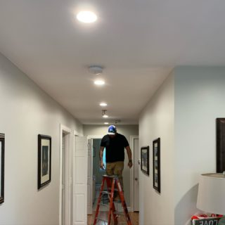 Take this time to get some of those things you've been wanting to do done! Some new recessed lighting in this house that the owner wanted to update for over a decade! Don't wait that long. Call and find out what specials we're offering! 401-443-6715. #rcelectric02871