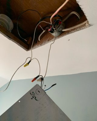 Found in a recently sold home. Dangerous for sure. Call us to check your wiring at your house before you run into costly repairs or worse! 401-443-6715.