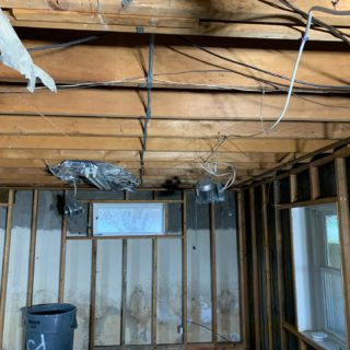 Who doesn't love demo day?! Remodel on this basement. All new throughout. Call us for all of your projects big or small. 401-443-6715. #rcelectric02871 #remodel #portsmouthri