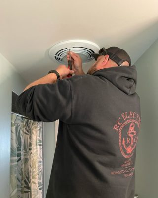 What's better than a bath fan? A bath fan with a heater! Get yours installed today! 401-443-6715. #rcelectric02871 #bathfan #newportri