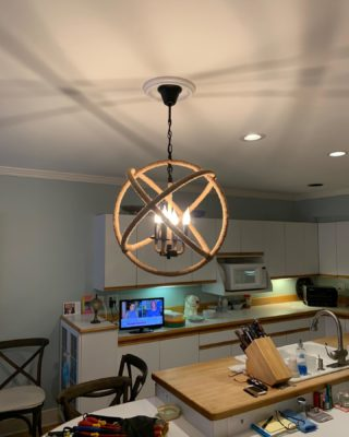 New fixture provided by customer. What are your thoughts? 401-443-6715 #rcelectric02871 #newportri