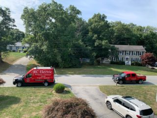 If you see these vehicles outside your house you know it's going to be done right. Call us and schedule your work today. 401-443-6715. #rcelectric02871 #tivertonri