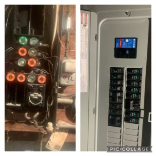 Quick panel upgrade! If your panel looks like the one on the left give us a call and upgrade! 401-444-6715. #rcelectric02871 #electric #panelupgrade #safety #tivertonri