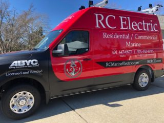 Finally nailed the design down! Call us for ALL of your electrical needs! What do you think? Let us know in the comments below! #rcelectric02871 #rcmarineelectric #rhodeisland #rhodeislandelectrician