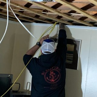 Another day another basement. Call us and find out what you can do to make your basement better! 401-443-6715. #rcelectric02871 #basementremodel #electrician